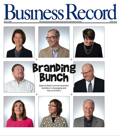 Catherine Huggins, Huggins Consulting Group, featured in The Branding Bunch from the Des Moines Business Record